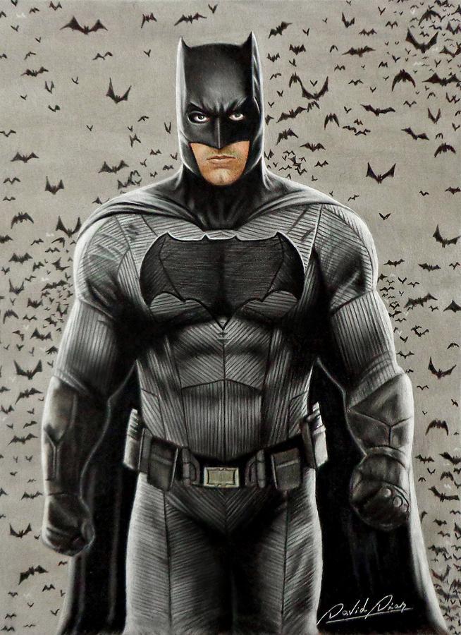 Batman Ben Affleck Drawing By David Dias