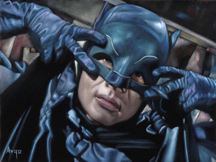 Oil Painting Painting - Batman Dancing The Batusi by Argo