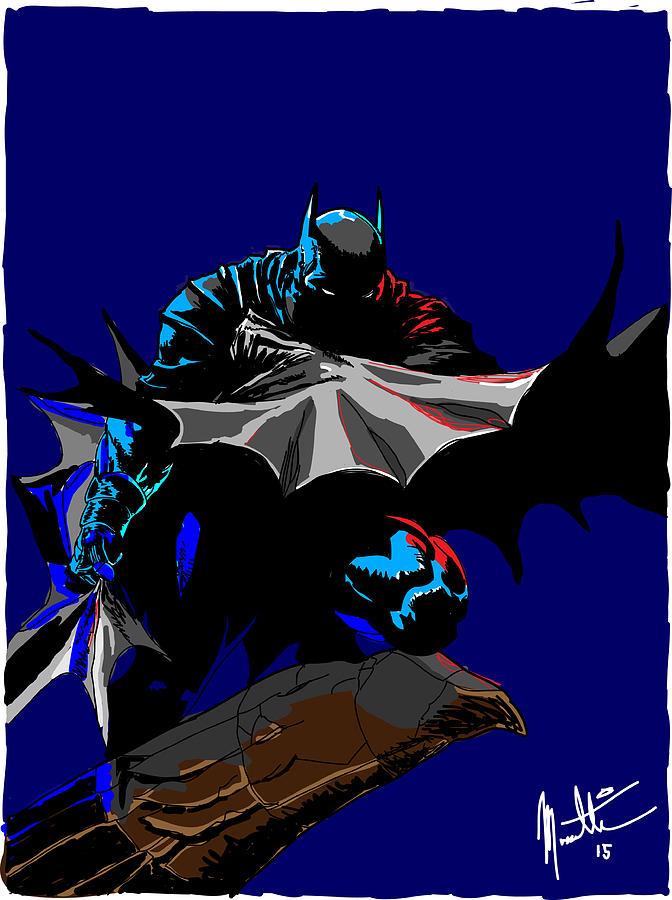 Batman Digital Art - Batman Dark  by Robert Massetti