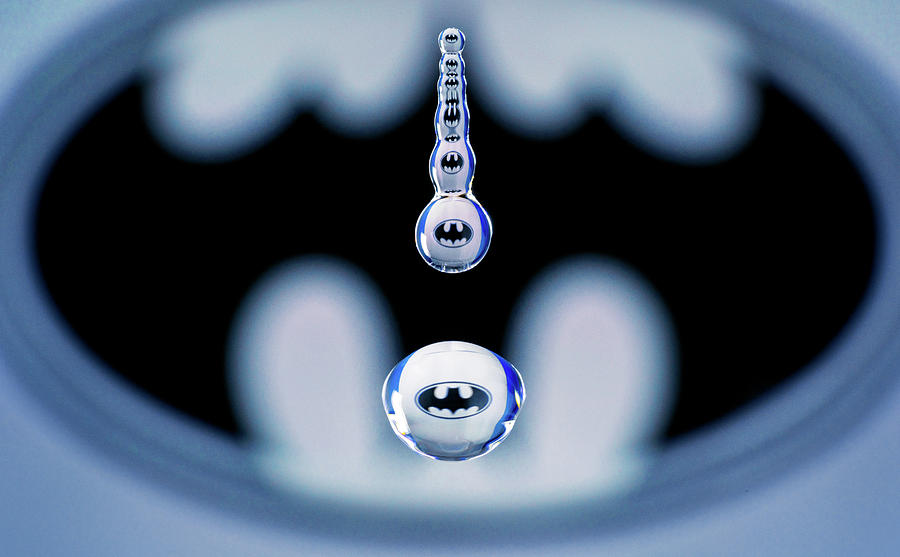 Batman Water Drop by Max Neivandt