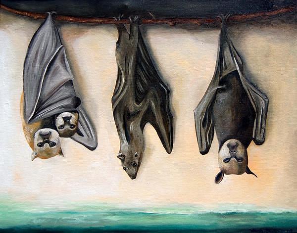 Bats Painting - Bats by Leah Saulnier The Painting Maniac