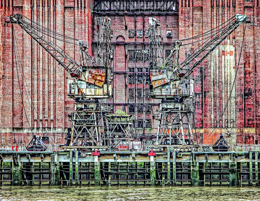 Battersea Cranes by Makk Black