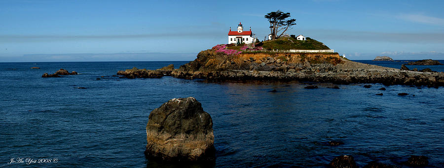 Light House Photograph - Battery Point Light House by JoAn Yost