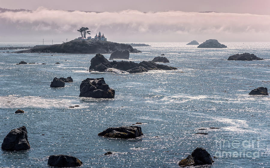Battery Point Lighthouse And Fog 7 by Al Andersen