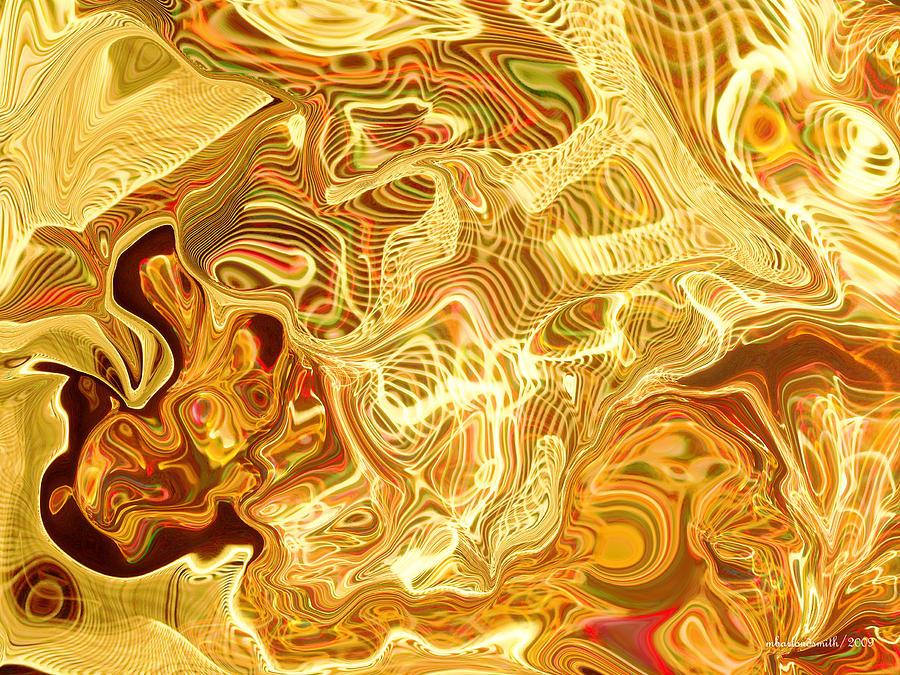 Lights Digital Art - Battle Creek Christmas Lights Abstract by Michelle  BarlondSmith