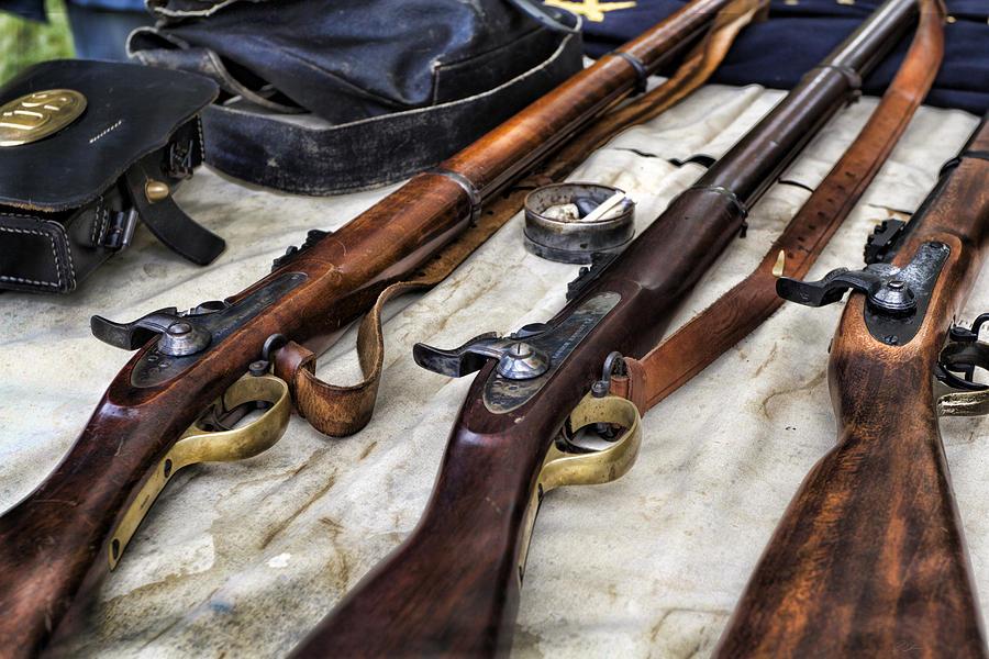 Civil War Photograph - Battle Gear by Peter Chilelli
