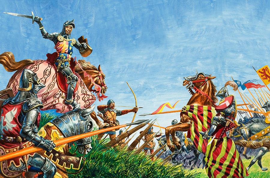 Battle Of Agincourt Painting - Battle Of Agincourt by Peter Jackson