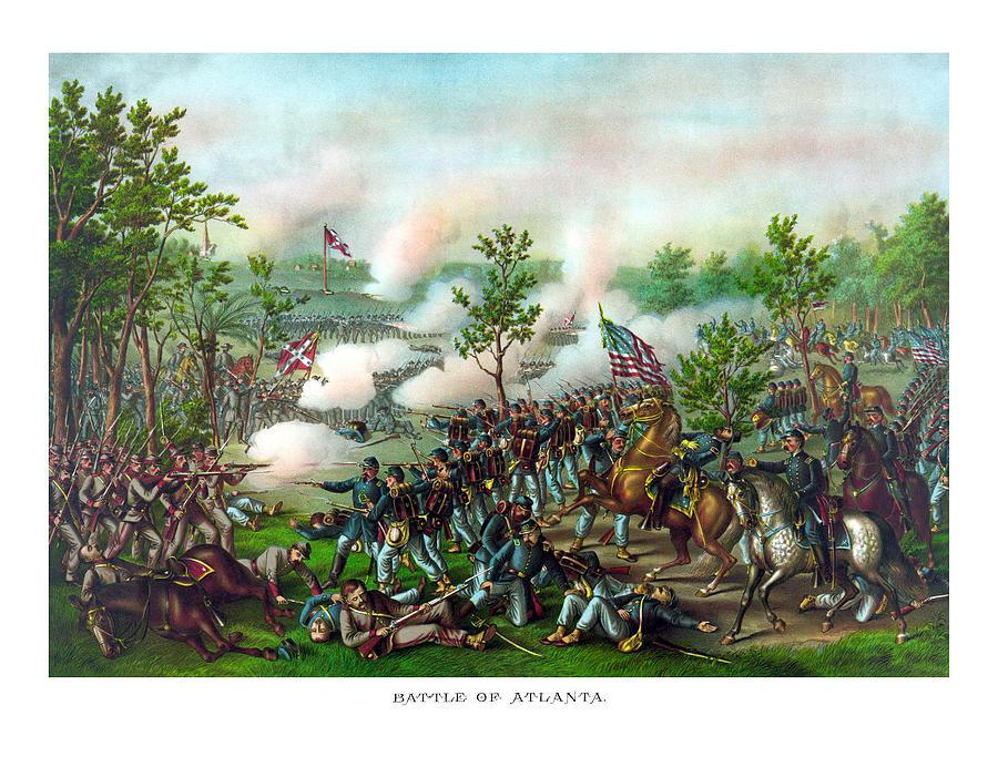 Battle Of Atlanta Painting - Battle Of Atlanta by War Is Hell Store