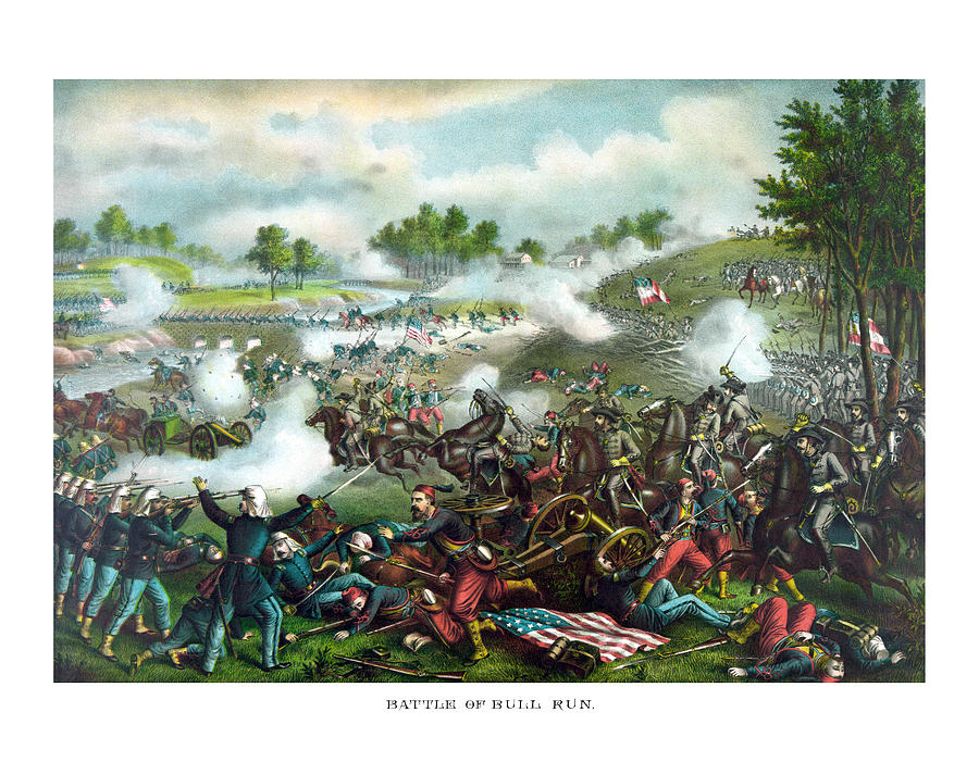 Civil War Painting - Battle Of Bull Run by War Is Hell Store