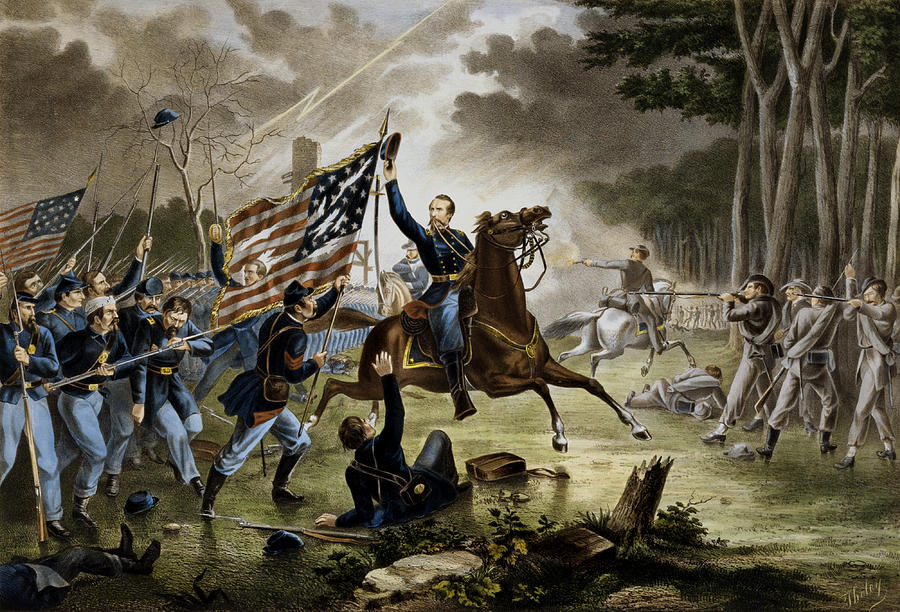 Battle Of Chantilly - Civil War Painting by War Is Hell Store
