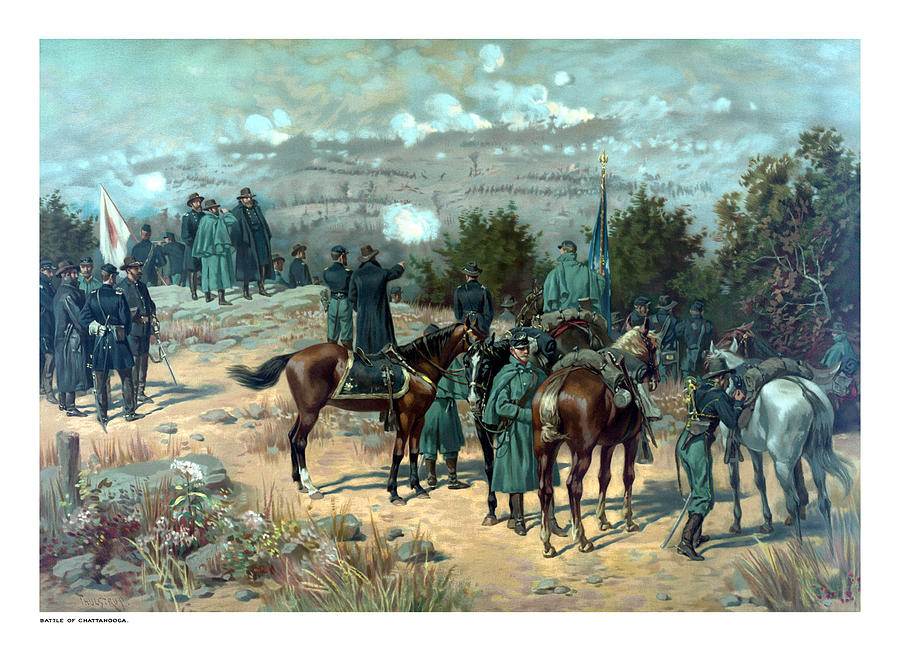 Missionary Ridge Painting - Battle Of Chattanooga by War Is Hell Store
