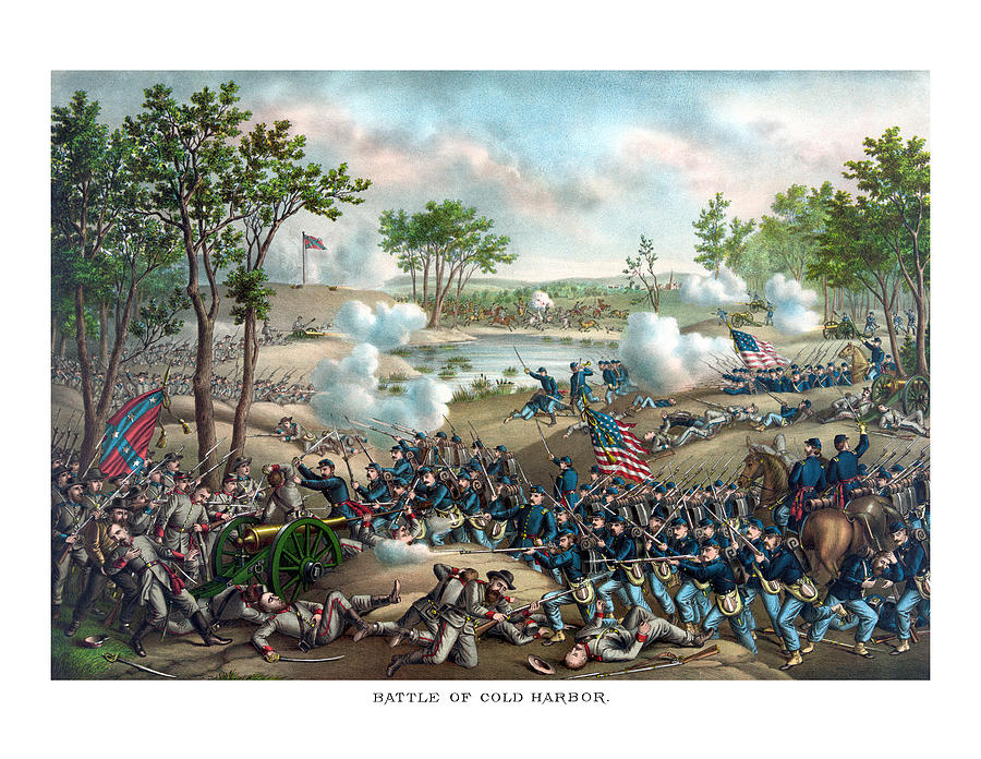 Civil War Painting - Battle of Cold Harbor by War Is Hell Store