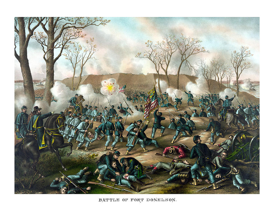 Civil War Painting - Battle of Fort Donelson by War Is Hell Store
