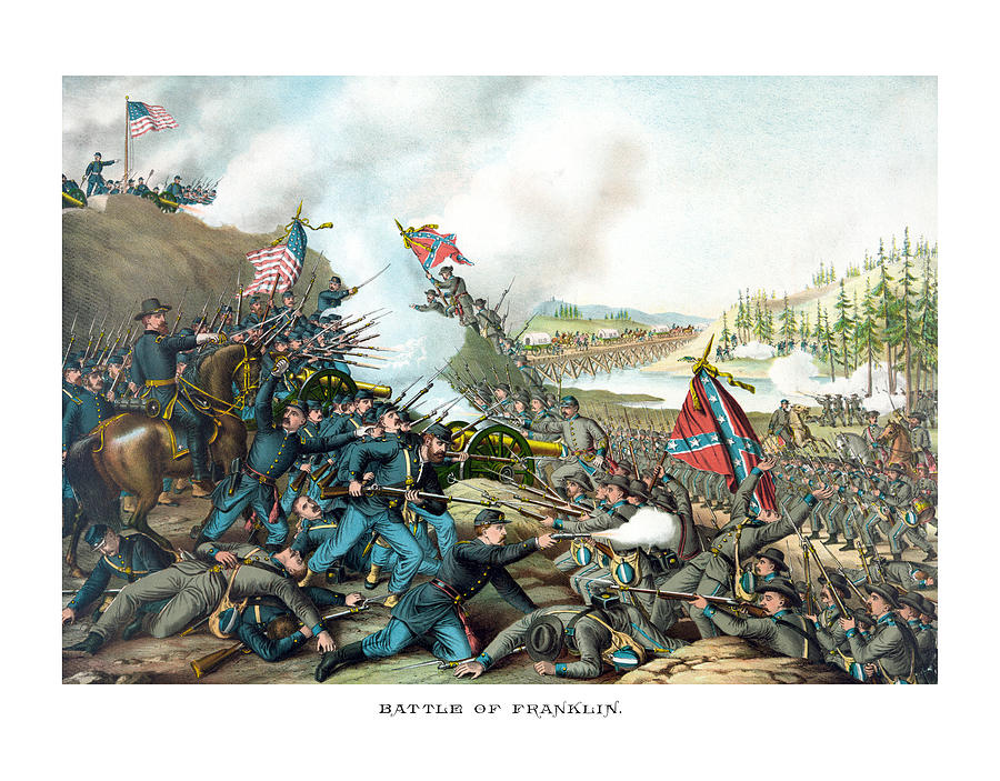 Civil War Painting - Battle Of Franklin - Civil War by War Is Hell Store