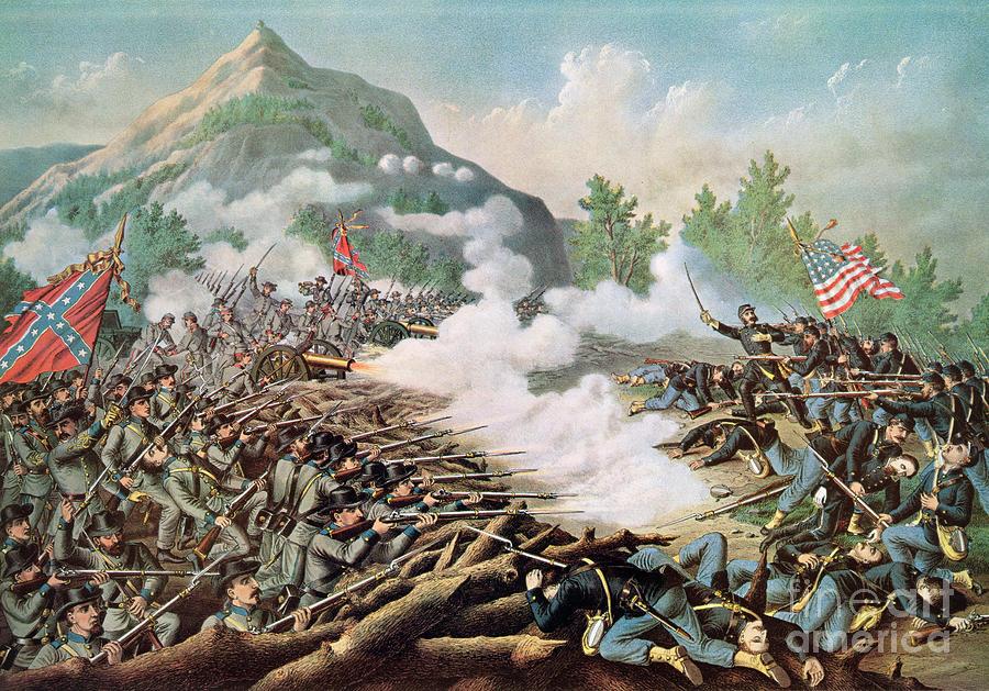 Georgia Painting - Battle Of Kenesaw Mountain Georgia 27th June 1864 by American School