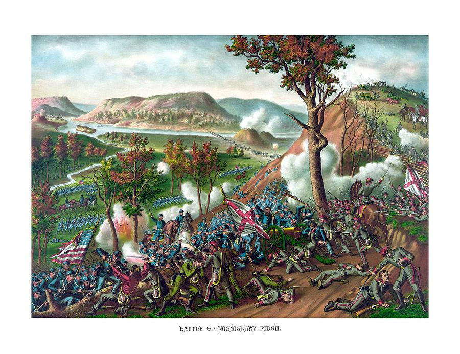 Civil War Painting - Battle Of Missionary Ridge by War Is Hell Store
