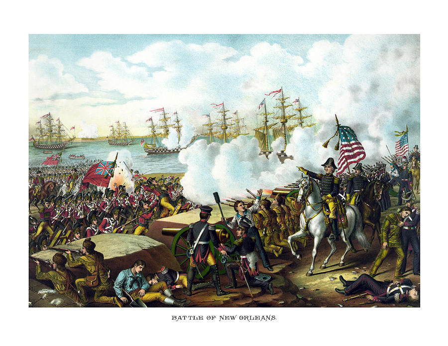 Andrew Jackson Painting - Battle Of New Orleans by War Is Hell Store