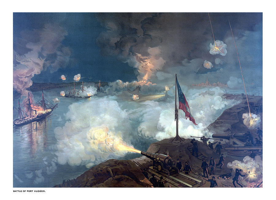 Civil War Painting - Battle Of Port Hudson by War Is Hell Store