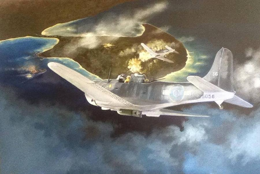 Battle Of Rabaul / Matupi Island Painting