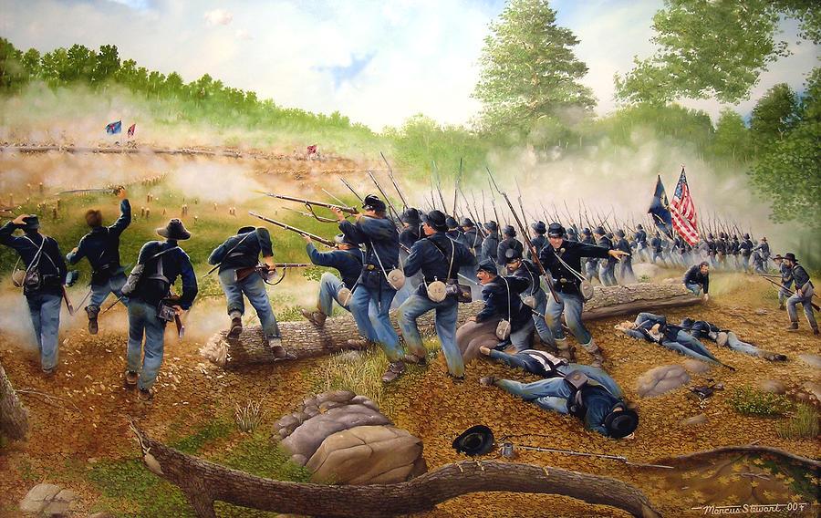 Civil War Painting - Battle Of Utoy Creek by Marc Stewart