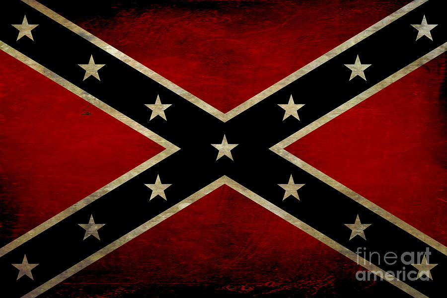 Battle Scarred Confederate Flag Digital Art