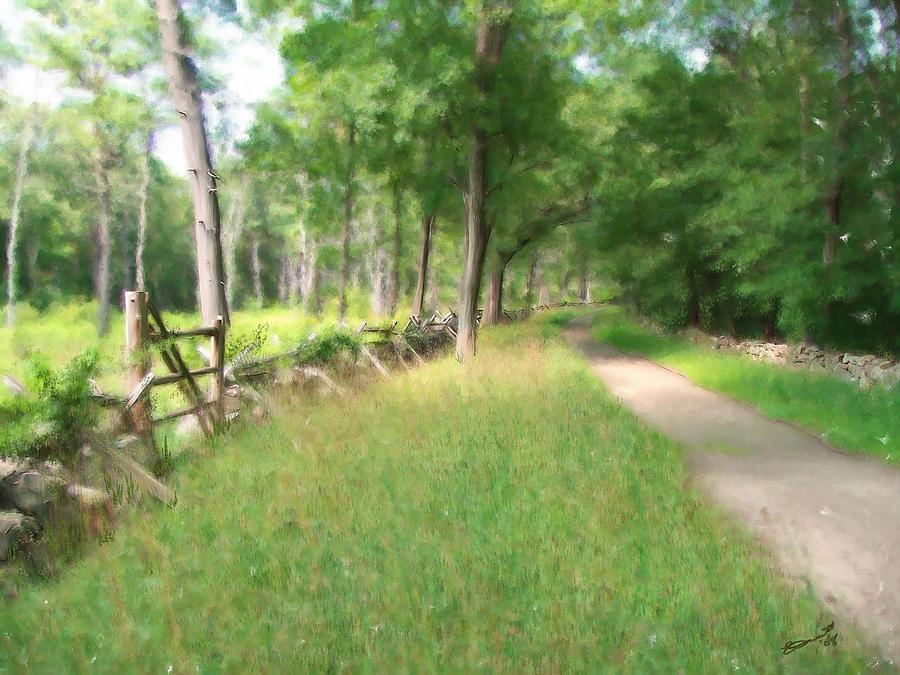 Battle Trail Painting by Eddie Durrett
