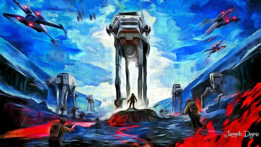 Star Wars 7 Digital Art - Battlefield - Da by Leonardo Digenio