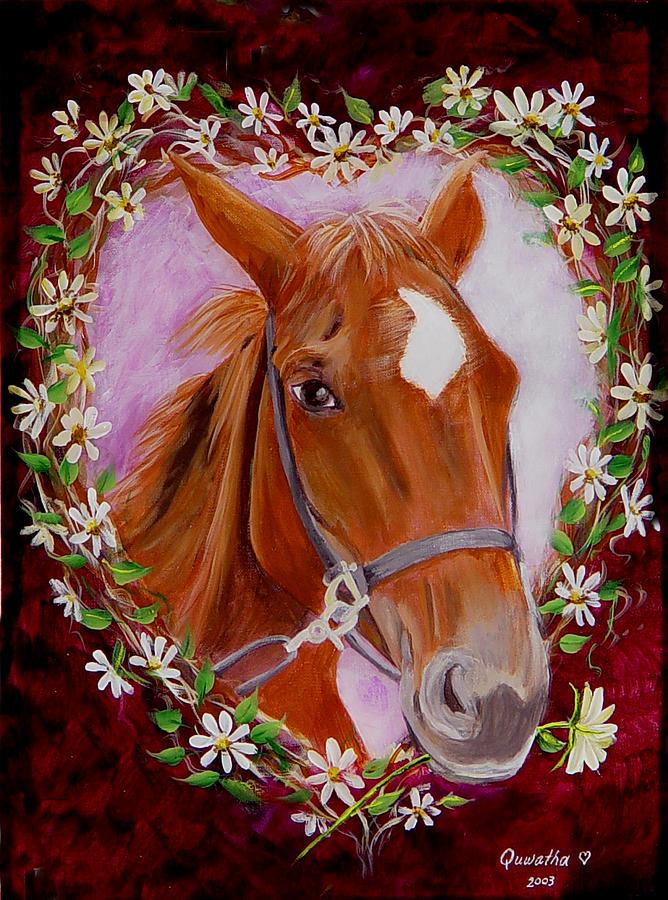 Horse Painting - Batuque by Quwatha Valentine