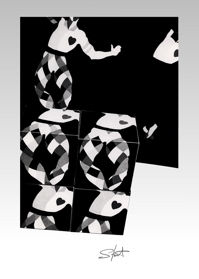 Dance Photograph - Bauhaus Ballet 2 The Cubist Harlequin by Charles Stuart