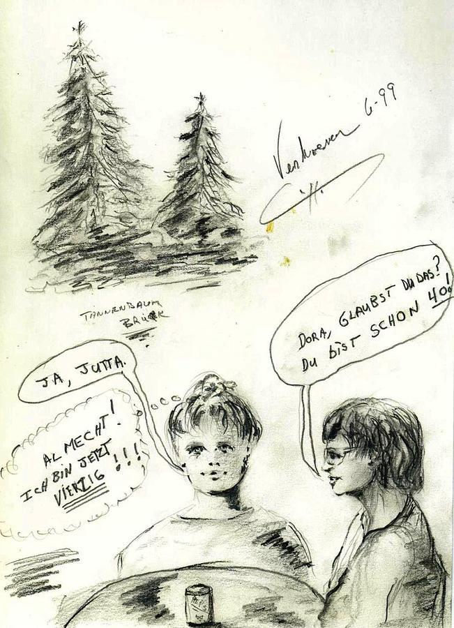 Sketch Drawing - Bavaria Sketch by Alfred P  Verhoeven