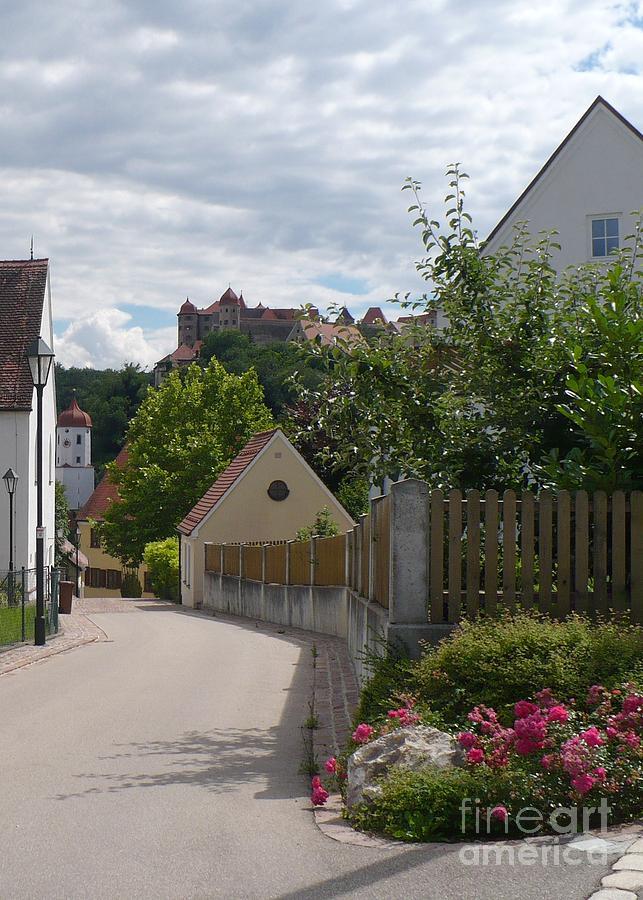 Castle Photograph - Bavarian Village With Castle  View by Carol Groenen