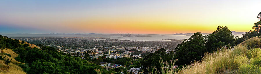 Bay Area Photograph - Bay Area Sunset Panorama 2 by Jason Chu