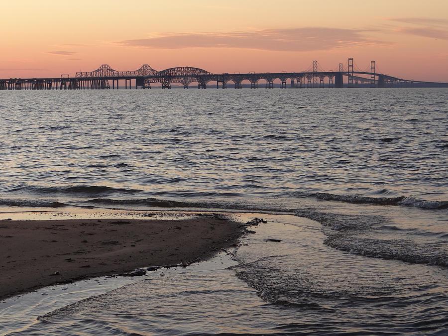 Landscape Photograph - Bay At Sunset by Bill Helman