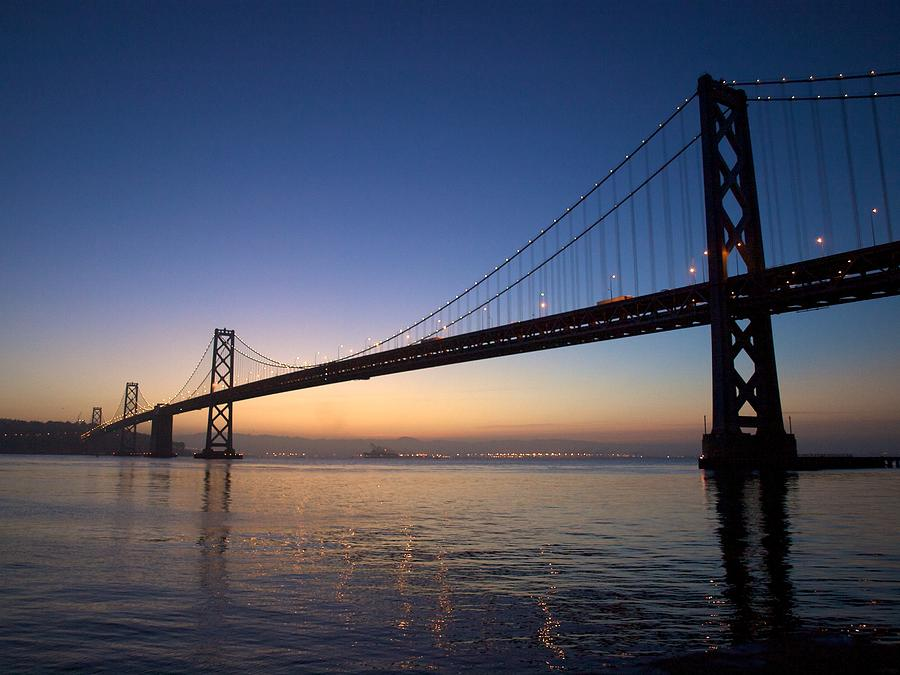 Bay Bridge At Dawn. by Dan Twomey