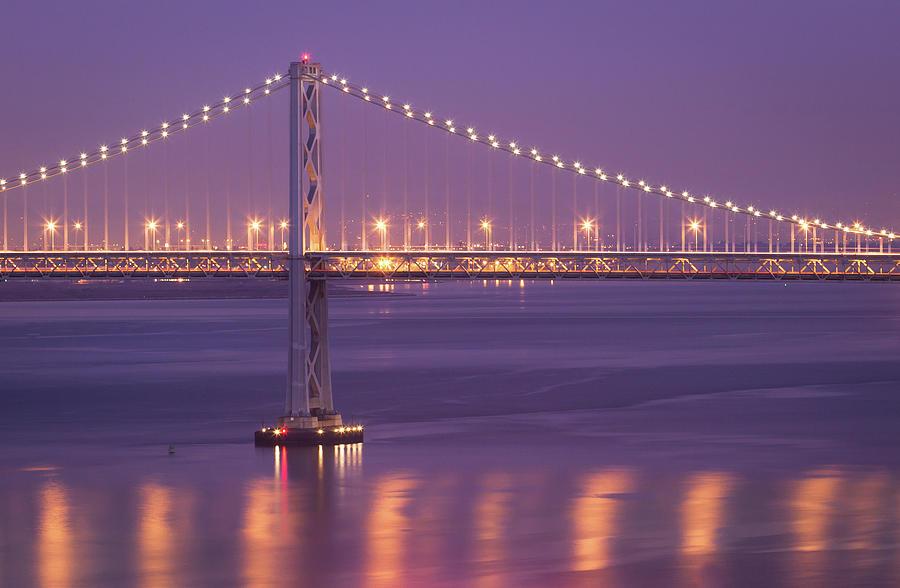 Horizontal Photograph - Bay Bridge At Dusk by Sean Duan