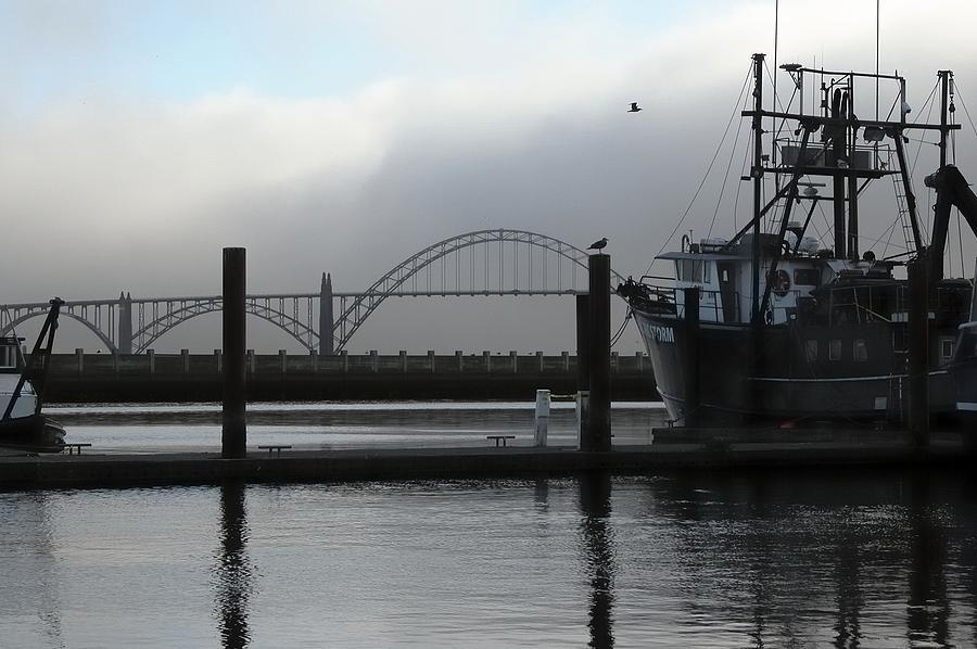 Bay Bridge Boat 2299 Photograph