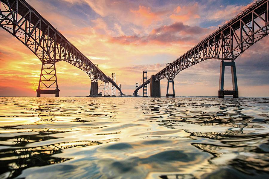 Bay Bridge Photograph - Bay Bridge Impression by Jennifer Casey