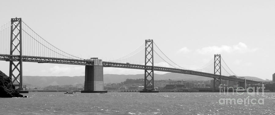 San Francisco Photograph - Bay Bridge In Black And White by Carol Groenen