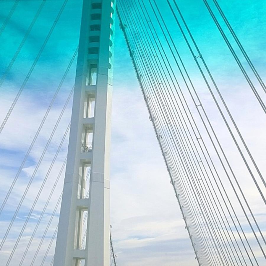 Bridge Photograph - Bay #bridge Section. Love The Aqua Tint by Shari Warren