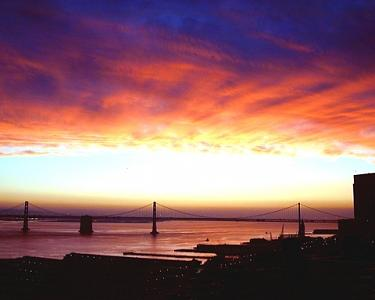 San Francisco Photograph - Bay Bridge Sunrise by Richard Nodine