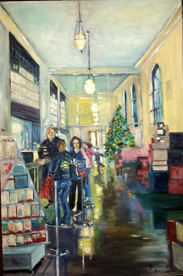 Post Office Painting - Bay City Post Office by Rosemary Kavanagh