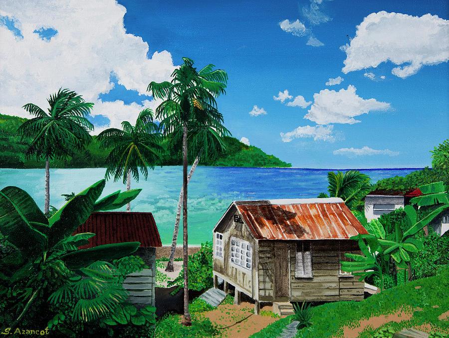Bay House Painting by Sandra Azancot