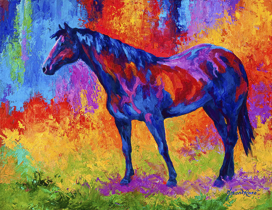 Horses Painting - Bay Mare II by Marion Rose