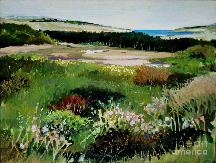 Dune Painting - Bay Meadow by Diane Ursin