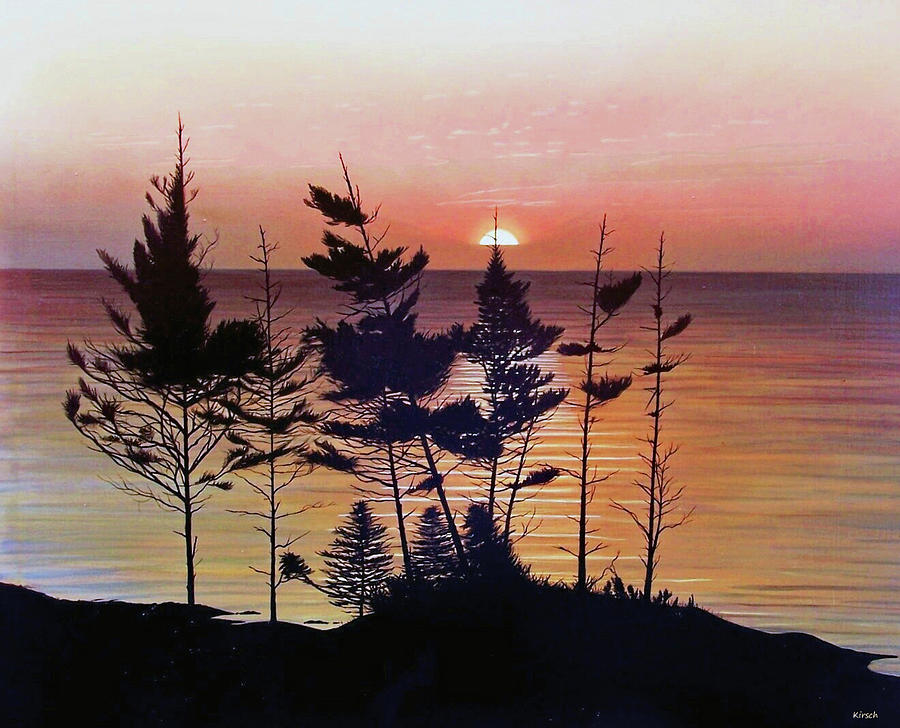 Bay Of Fundy Painting - Bay Of Fundy Sunset by Kenneth M  Kirsch