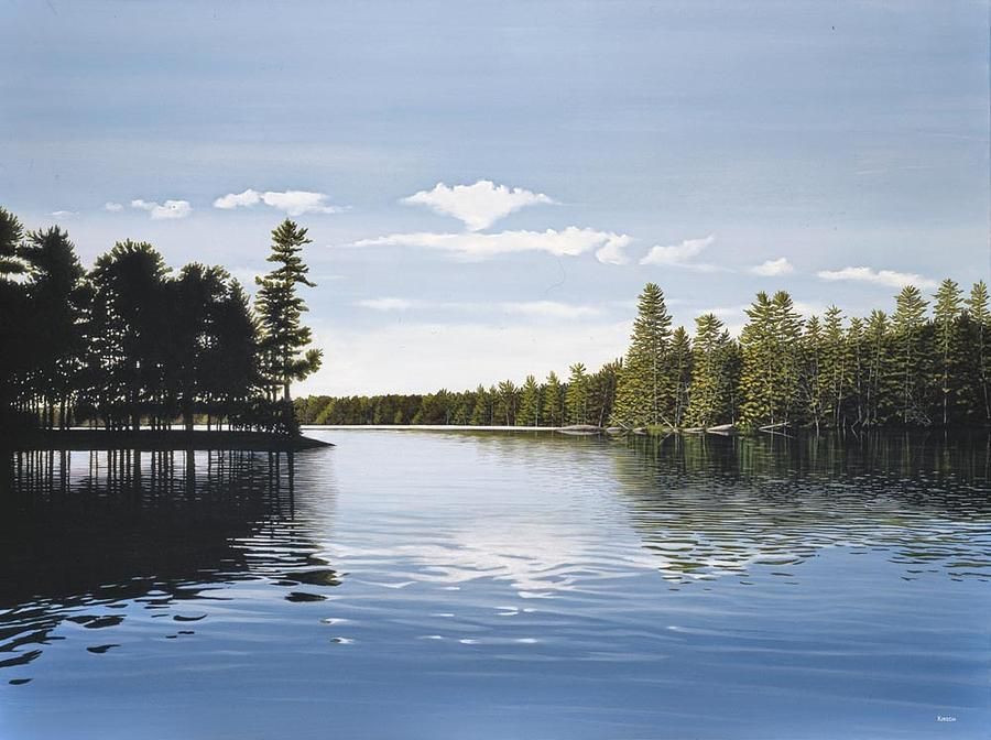 Bay On Lake Muskoka Painting By Kenneth M Kirsch
