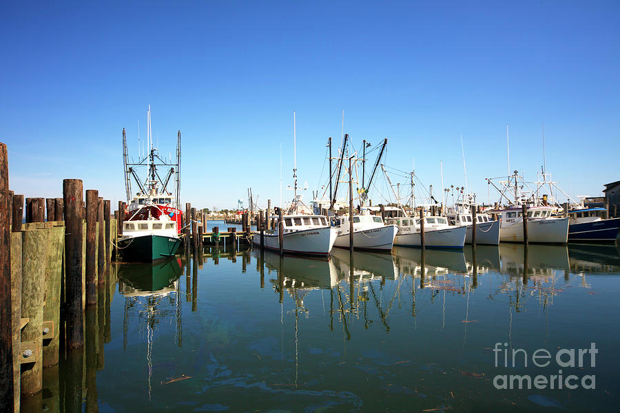 Boats Photograph - Bay Parking At Long Beach Island by John Rizzuto