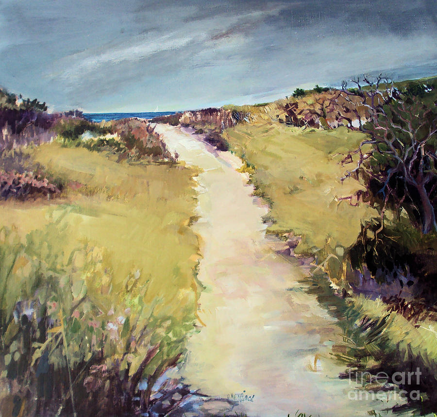 Path Painting - Bay Path by Diane Ursin