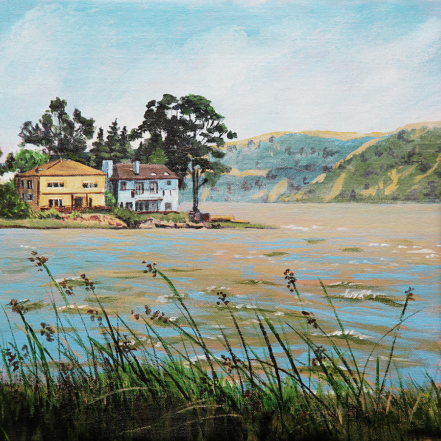 Bay Scenery with Houses by Masha Batkova