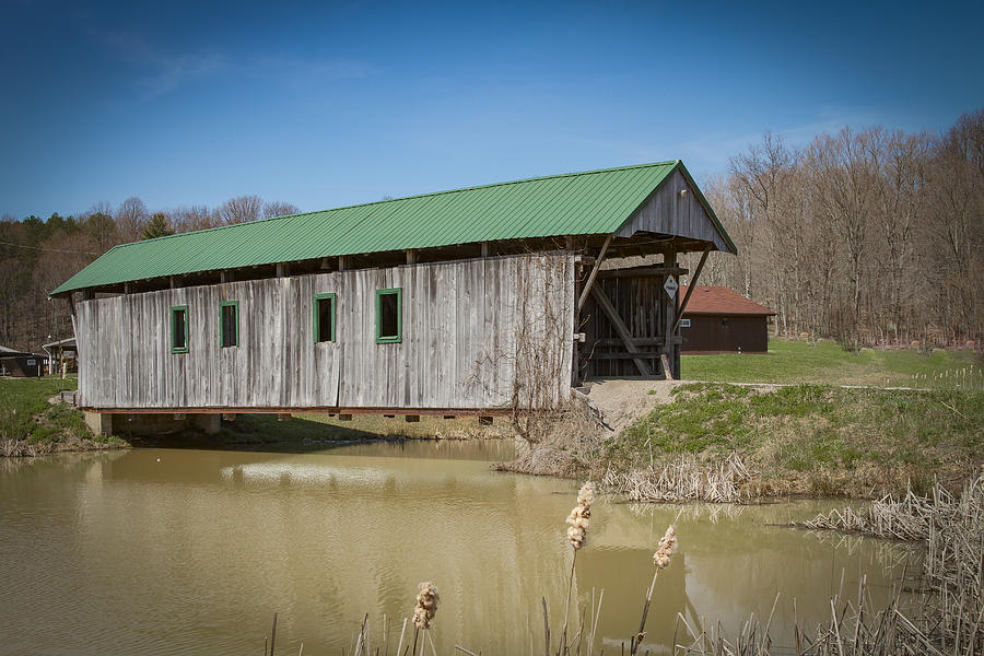 Bay/tinker Covered Bridge Photograph